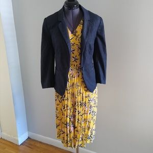 NWT Yellow Floral Banana Republic Dress Size 12